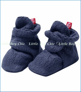 Zutano, Navy Cozie Fleece Booties