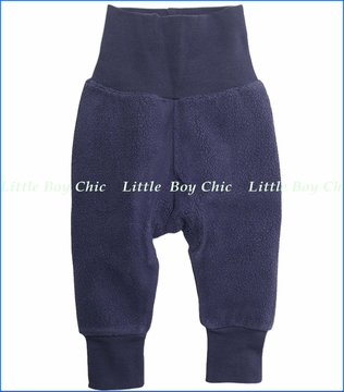 Zutano, Navy Cozie Fleece Cuff Pants