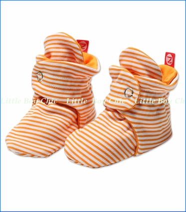 Zutano, Orange Candy Stripe Booties