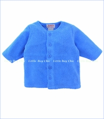 Zutano, Periwinkle Cotton Blend Fleece Jacket (c)