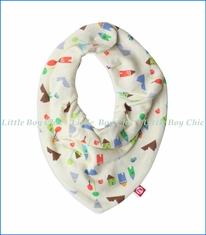 Zutano, St. Moritz Cream Bandana Bib in Off-White