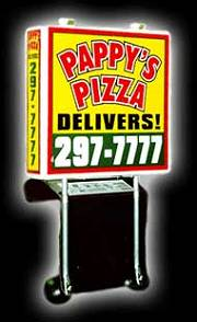 Pizza Box Lighted Delivery Sign
