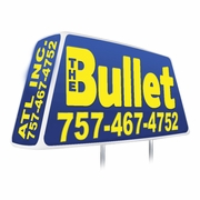 Window Bullet Lighted Delivery Sign
