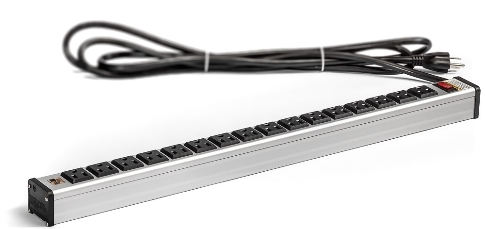 16 Outlet Power Strip Industrial Grade Heavy Duty Extension Cord