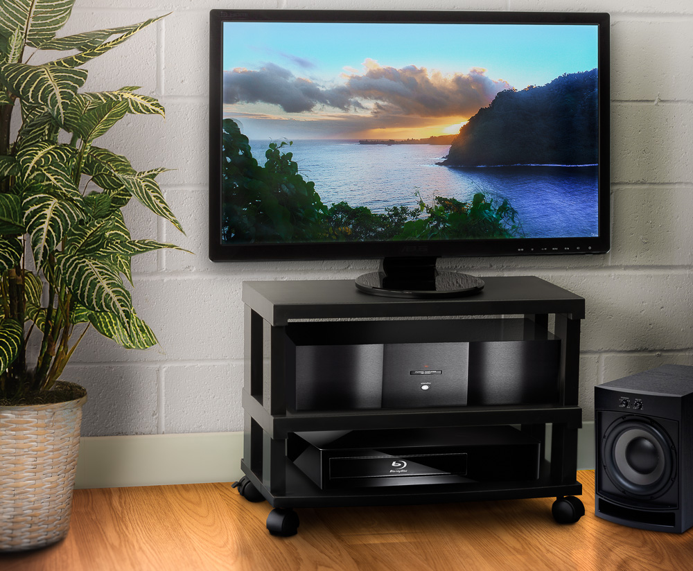3 tier lcd led tv stand entertainment rack with wheels. Black Bedroom Furniture Sets. Home Design Ideas