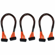 "32-Pin SAS to 32-Pin SAS SCSI Cable 20"" 3-Pack"
