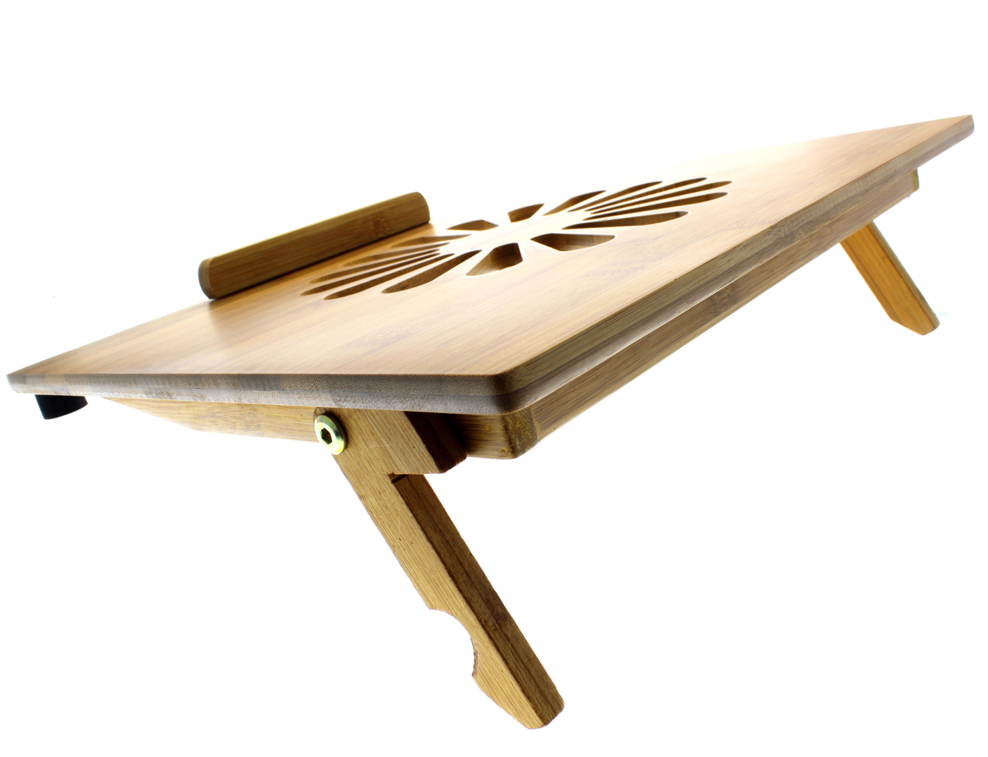 EcoFriendly Bamboo Cooling Vented Laptop DeskTable Stand Up to 15in