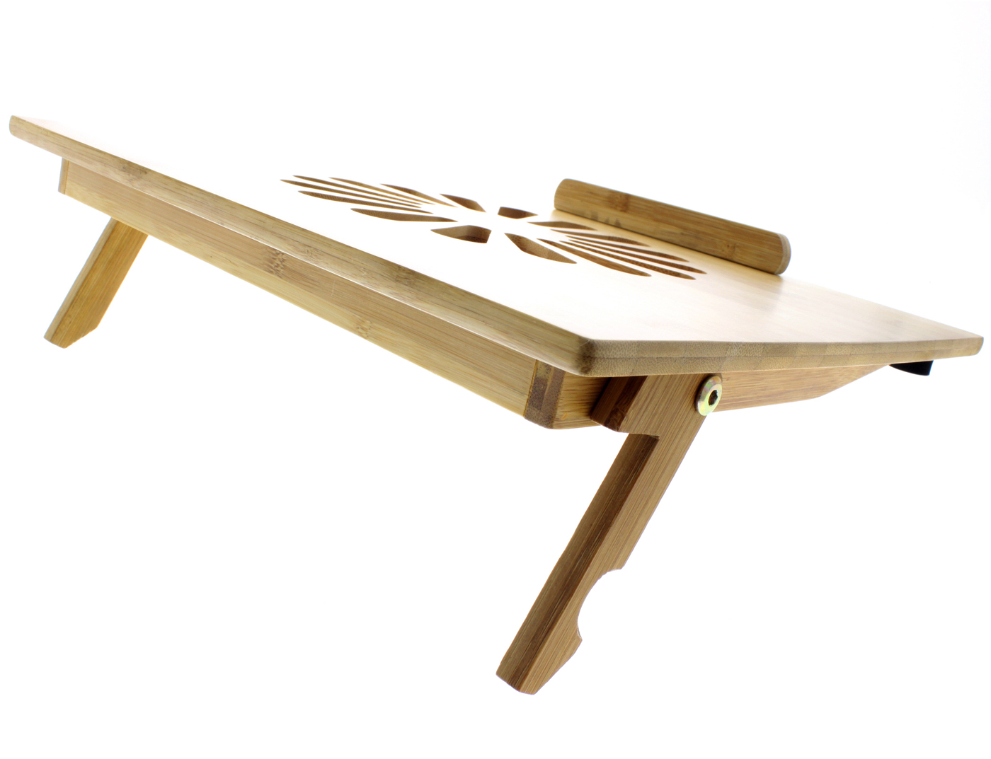Eco Friendly Bamboo Cooling Vented Laptop Desk Table Stand