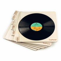 """Horizontal Wooden Laser Cut Record Organizers for Vinyl LPs up to 12"""""""