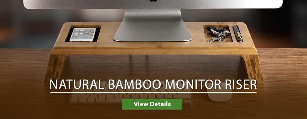 Natural Bamboo  Monitor Riser