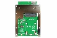 Latch and Retain mSATA SSD 7mm 2.5 inch Drive Frame to USB 3.0 or PCIe Low Profile to USB 3.0 Host