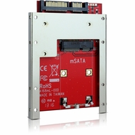 "Latch and Retain mSATA SSD to 2.5"" SATA Drive Converter with 2.5"" Frame"