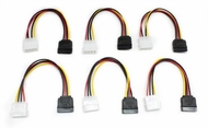 Molex to SATA Power Adapter Cable, 6in - 6 Pack