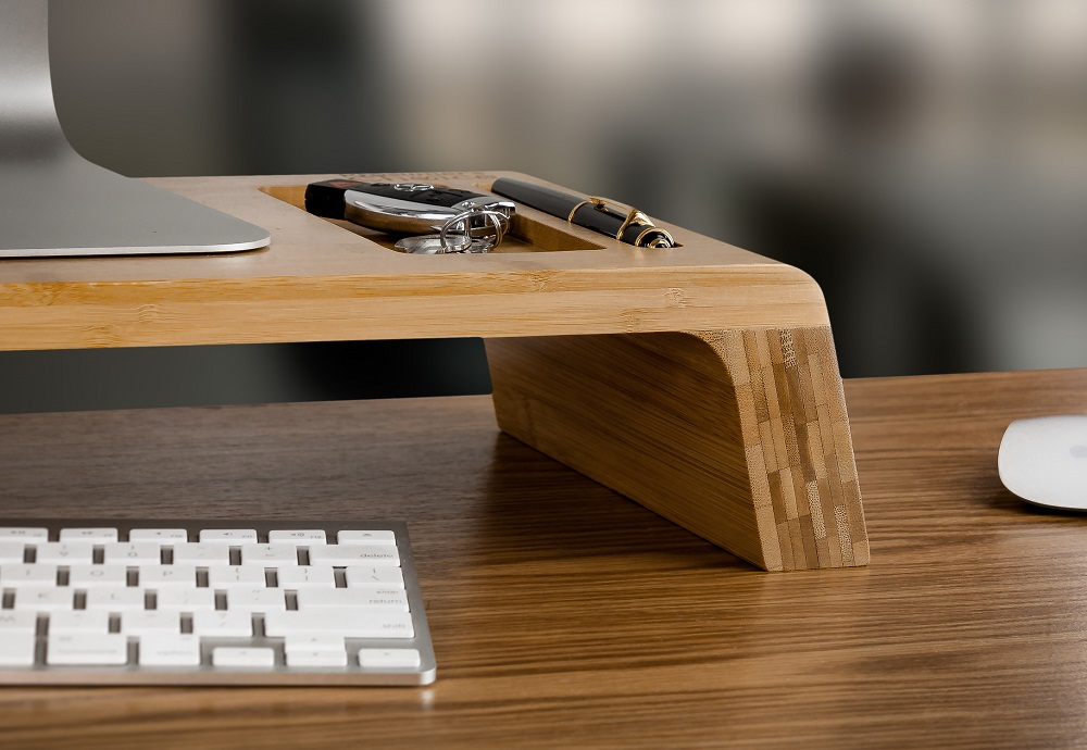Preferred Natural Bamboo Desktop Monitor Stand Riser - Prosumer's Choice PL16