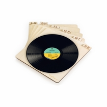 """TunePhonik Laser Cut Wooden Record Dividers to Organize Vinyl LPs up to 12"""""""