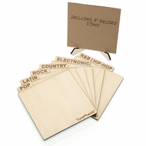 TunePhonik Vertical Wooden Genre 45 RPM Record Dividers - Set of Six