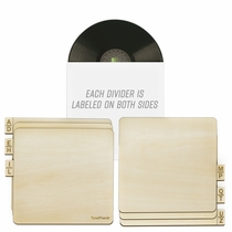 """Two-Sided Laser Cut Wooden Record Dividers to Organize 12"""" Vinyl LPs"""