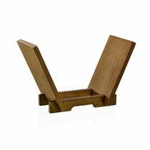 Vinyl Record Holder in Classic Solid Wood for 45 / 7in, 33 / 12in