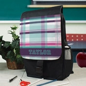 Preppy, Plaid, Personalized 3-P Backpack