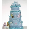 4 Tier Blue Teddy Bears Diaper Cake