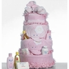 4 Tier Pink Elephant Theme Diaper Cake