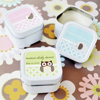 Animal Theme Personalized Square Candle Tins