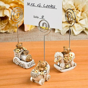 Antique Design Teddy Bear Place Card Holders