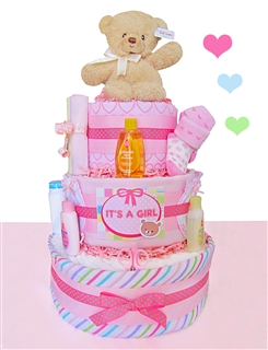 Baby Bear Pink 3 Tier Cake