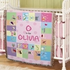 Personalized ABC Blanket for Girls
