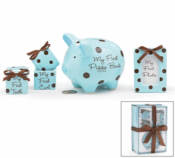 Baby Boy Ceramic Keepsakes Set