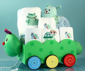 Baby Boy Pond Pals Wagon