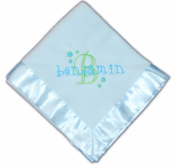Baby Boy's Personalized & Embroidered Blanket