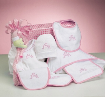 Baby Girl Monogrammed Layette Set