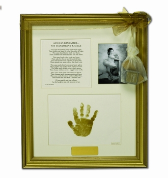 Baby Handprint And Poem Keepsake Frame