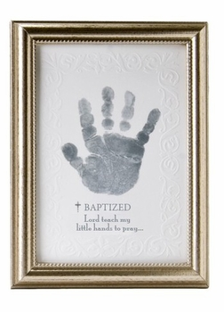 Baby Handprint Frame For Baptism
