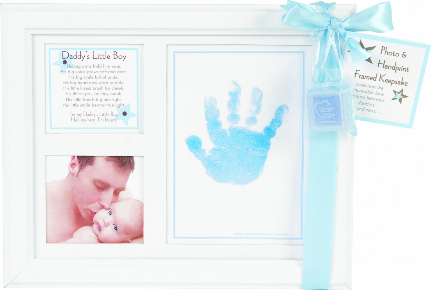 Baby Handprint Frame For Daddy\'s Little Boy | SimplyUniqueBabyGifts.com