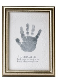 Baby Handprint Frame For Dedication