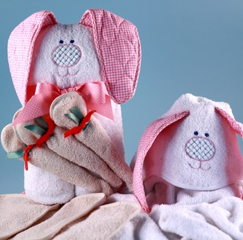 Baby Hooded Towel Rabbit Design