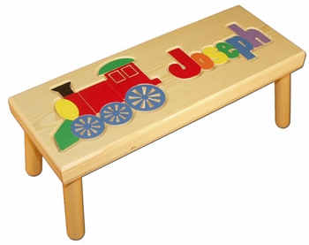 Baby Name Seat With Locomotive