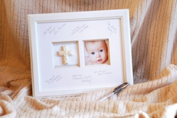 Baby Religious Autograph Frame
