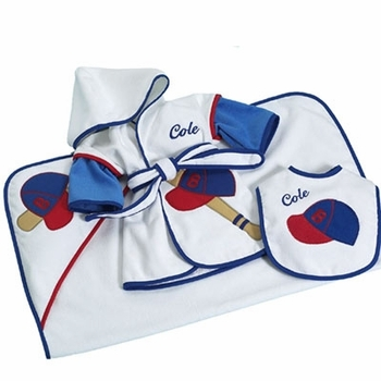 Baseball Robe Set  (Can be Personalized)