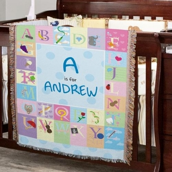 Personalized ABC Blanket for Boys
