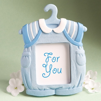 Blue Baby Outfit Picture Frame