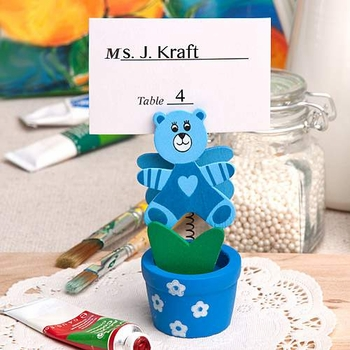 Blue Bear Place Card Holders