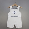 Boys White And Blue Rompers (Can be personalized)