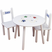 Child's Personalized Round Table and Chairs Set