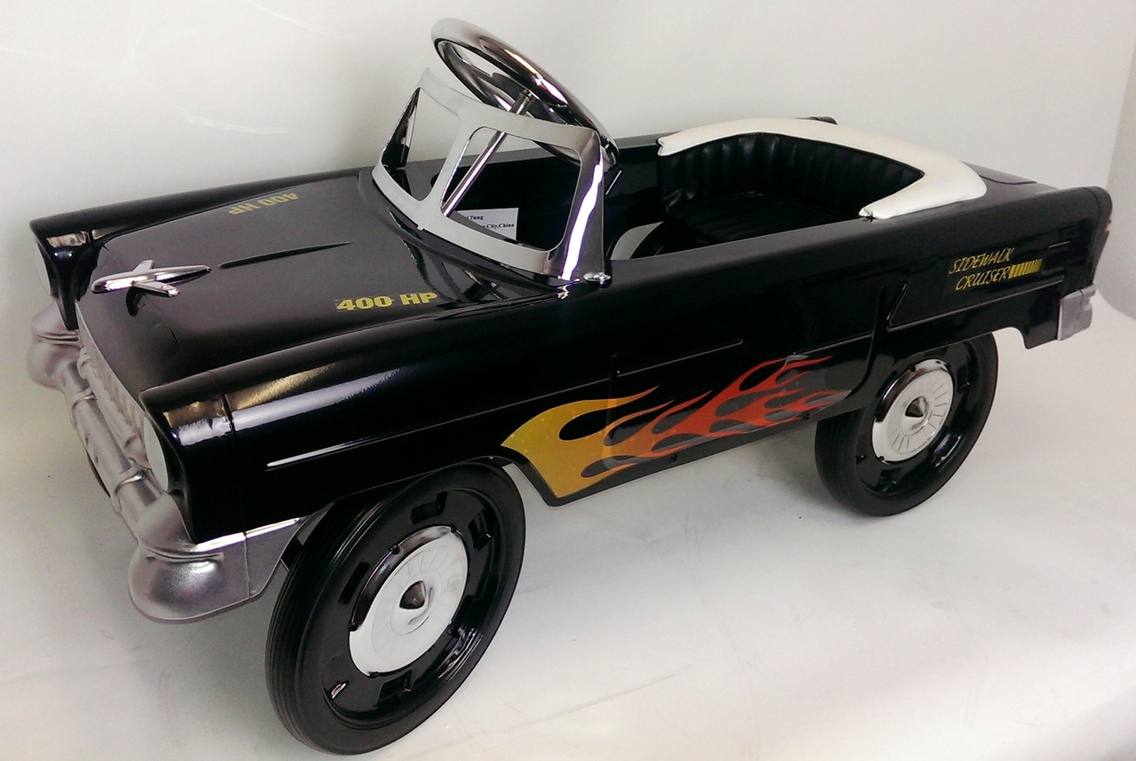 classic steel vintage muscle car pedal toy | simplyuniquebabygifts