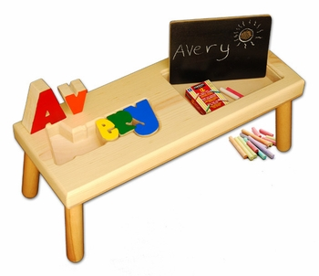 Custom Baby Name Seat With Chalk Board