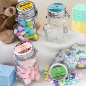 Custom Glass Teddy Bear Jars