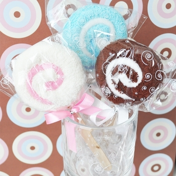Cute Baby Towel Lollipops